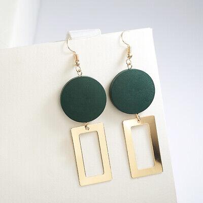 Fashion Women Statement Boho Geometric Big Pendant Ear Stud Dangle Drop Earrings 11