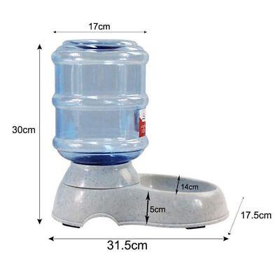 Large Automatic Pet Dog Cat Water Feeder Bowl Bottle Dispenser Plastic 3.8L/11L 2
