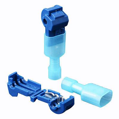 50 Stücke Schnellverbinder für Kabelschuhe Blau Stromdiebe Abzweigverbinder Kit