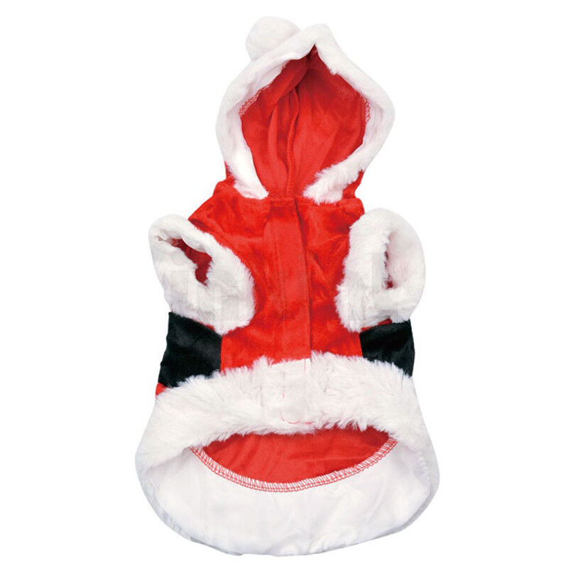 Christmas Xmas Pet Dog Puppy Hoodie Sweater Jacket Jumper Clothes Costume Sets 3