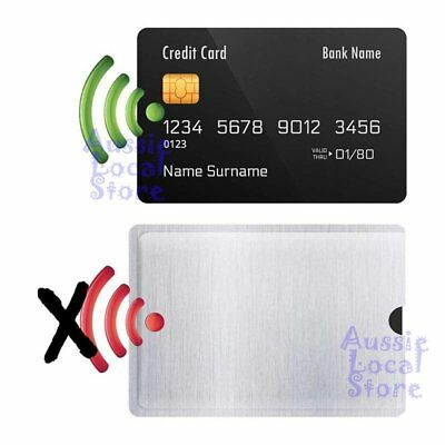 RFID Blocking Sleeve Secure Credit Card ID Protector Anti Scan Safet 4xL + 10xS 3