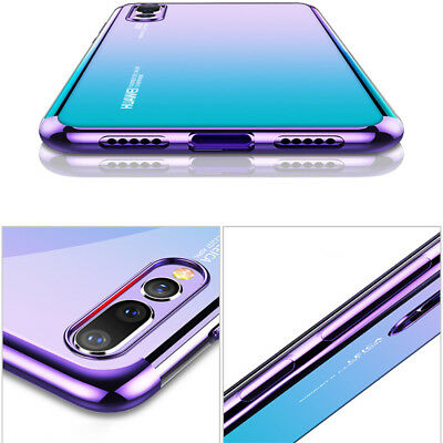 For Huawei P Smart 2019/ P30 P20 Lite Pro Plating Silicone Hybrid Case Cover 9