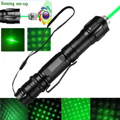 High Power Green Laser Pointer Military Beam Lazer Pen +Star Cap +Belt Clip USA! 3