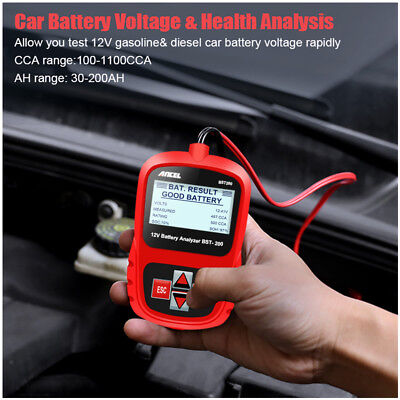 12V LCD Auto Battery Tester Analyzer Tool Car Flooded GEL AGM EFB 100-1100CCA