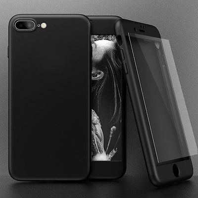 Hybrid 360° Shockproof Case Tempered Glass Cover For Apple iPhone 5s 6s 7 Plus 11