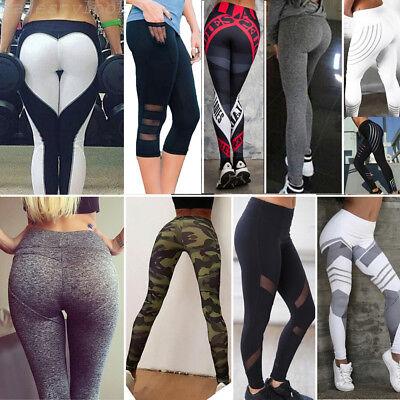 ... Femmes Leggings Jambière Sport Yoga Gym Aptitude Pantalon Collant  Moulant Skinny 2 d7050cd5464
