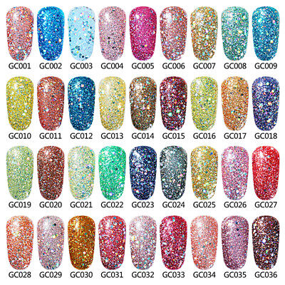 Elite99 Diamond Esmalte Semipermanente Glitters Uñas en Gel UV LED Top Base Coat 2
