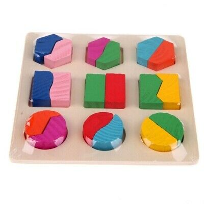 Educational Puzzle Sets For Baby Kids Early Learning Wooden Geometry Wood Toys 8