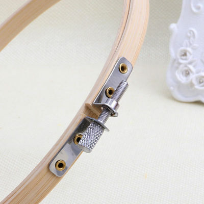 1Pcs Wooden Cross Stitch Machine Embroidery Hoop Ring Bamboo Sewing 13-30cm 11