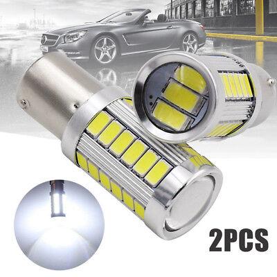 2PCS Bianco BA15D 33SMD LED 1157 Auto Coda Freno Stop Coda Lampadina Globo 12v 4