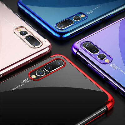 For Huawei P Smart 2019/ P30 P20 Lite Pro Plating Silicone Hybrid Case Cover 6
