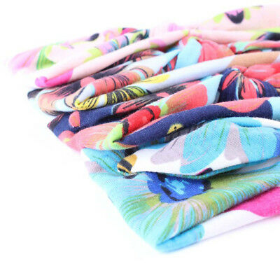 Baby Girls Floral Flower Bow Hairband Turban Knot Rabbit Headband Accessories 3
