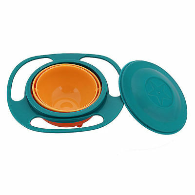 Baby Kids Non Spill Gyro Feeding Toddler Bowl 360° Rotate Avoid Food Spilling 7