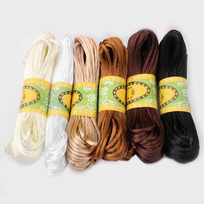 20 Meters 2mm Rattail Satin Silk Cord Nylon Macrame Beading kumihimo String 4