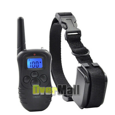 Waterproof 1000 Yard 2 Dog Shock Training Collar Pet Trainer With Remote 4 Modes 9