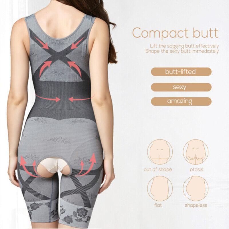 Women Full Body Shaper Compression Postpartum Shapewear BodySuit Corset Girdle 5