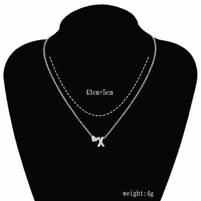 26 Letters Women Tiny Love Heart Collier Choker Necklace Pendant Lovers Gifts