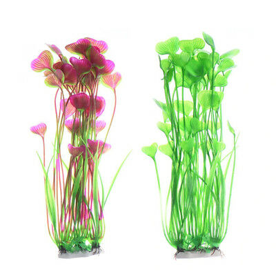 Artificial Water Plants for Fish Tank Aquarium Landscape Plastic Decor Ornament 10