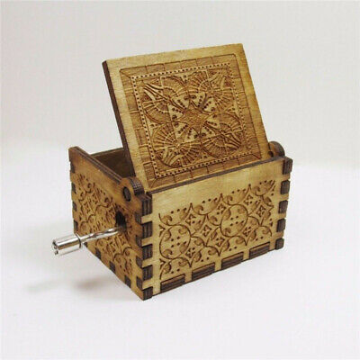 Harry Potter Music Box Engraved Wooden Music Box Interesting Toys Xmas Gifts US 5