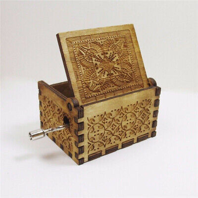 Tiny Harry Potter Wooden Hand Engraved Music Box Fun Interesting Toys Kids Gifts 6