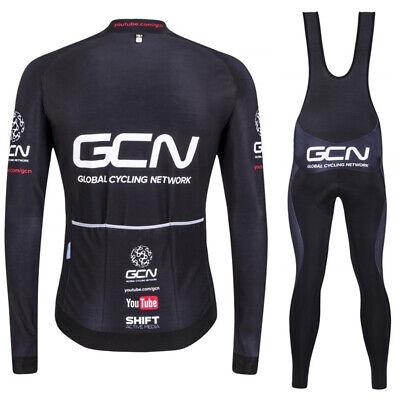 DE GCN Wolle Warm Fahrradtrikot Radtrikot Radfahren Langarm Fahrradbekleidung