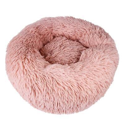 Pet Dog Cat Calming Bed Round Nest Warm Soft Plush Sleeping Bag Comfy Flufy Gift 12