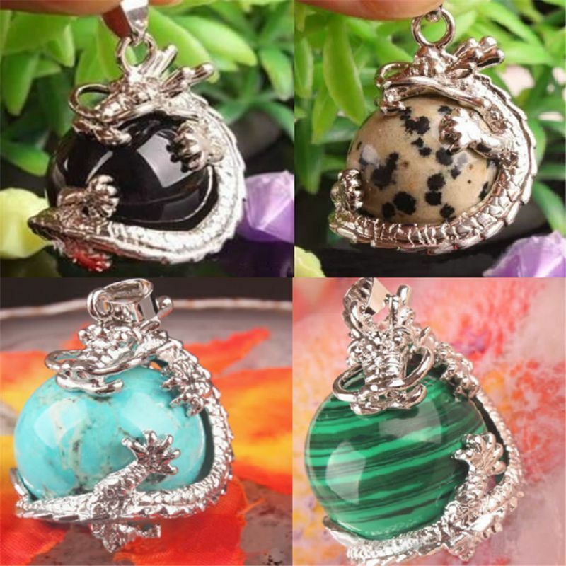 Resin Gemstone Dragon Crystal Pendant Fashion Charms Jewelry no Necklace Chain 2