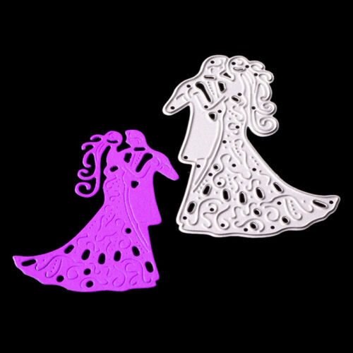 Romantic Dancing Lovers Wedding Cutting Dies For Scrapbooking Card Craft DecorPD 3