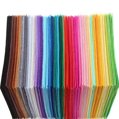 40pc /set Stoffa colorata in feltro non tessuto fatto a mano 40 fogli 15 * 15 cm 5