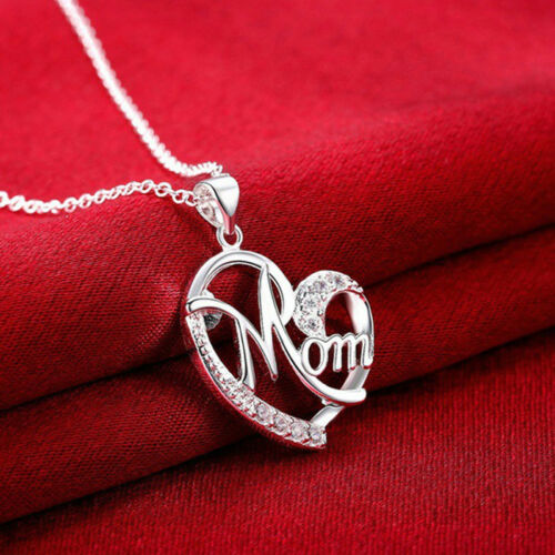 Women Lady Mom Pendant Necklace Gift for Mother Daughter Grandmother Jewelry US 4