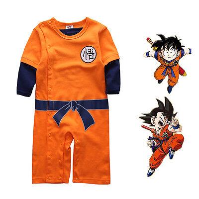 2864d9c3e396 DRAGON BALL GOKU Baby Costume Newborn Infant Boy Clothes Romper ...