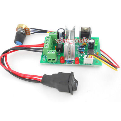6A PWM Motor Speed Controller Module DC 6V 12V 24V 30V CW /CCW Reversible Switch 4