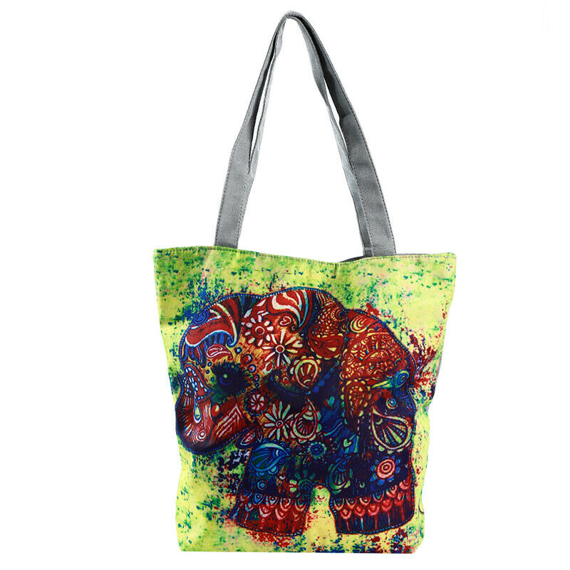 Handbag Elephant Printed Tote Casual Beach Bags Shoulder Shopping Casual JJ 2