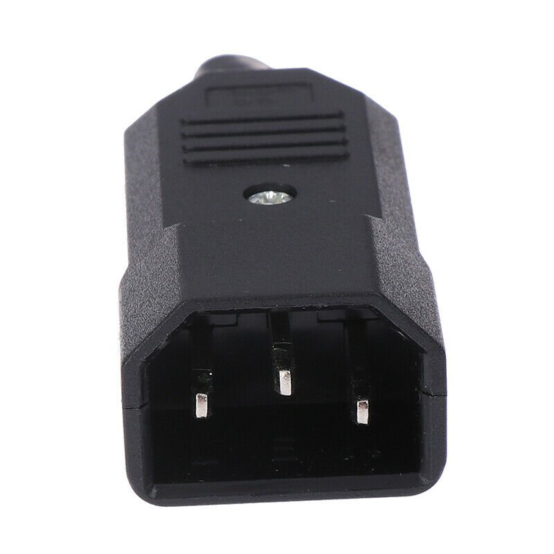 3 Pin IEC 320 C14 Male Plug Rewirable Power Connector Socket AC Panel Socket UK 4