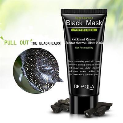 BIOAQUA Blackhead Removal Bamboo Charcoal Peel Off Black Face Mask Deep Cleaning 2