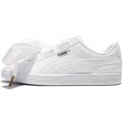 7d71cd77f52 ... Puma Basket Heart Patent Wns Leather White Women Shoes Sneakers  363073-02 2