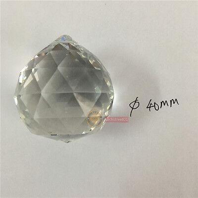 40mm Clear Feng Shui Hanging Crystal Ball Lamp Sphere Rainbow Sun Catcher N D7K0