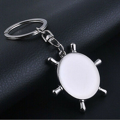 Unisex Fashion Compass Metal Car Keyring Keychain Key Chain Ring Keyfob 4