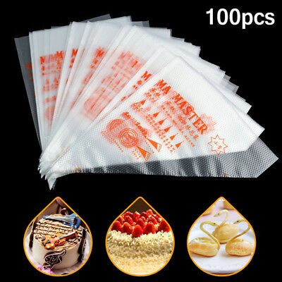Taartdesign, gebak 100X35cm Plastic Disposable Icing Piping Pastry Bags Cake Decorating Tool,M Size