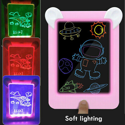 MagicToy Pad Light Up Drawing Pad with Neon Pen Creative Glow Art Light Effect 8