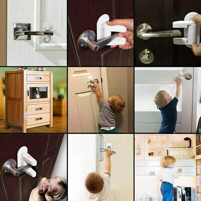 Door Lever Lock Safety Child Baby Proof Doors Adhesive Lever Handle Safety Lock 3