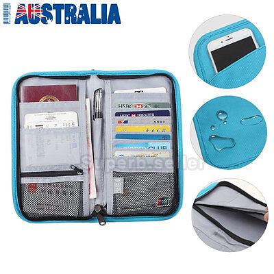 Large RFID Blocking Anti Scan Travel Passport Credit Card Wallet Holder Pouch AU 2