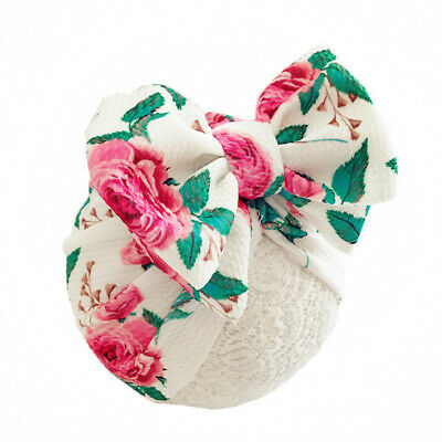 Newborn Baby Hat Head Wrap Flower Soft Bowknot Baby Turban Cap For Girl Toddler 4