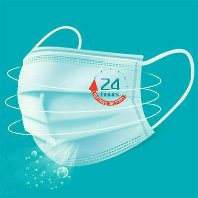 50 PCS Disposable Face Mask Shield 3-Ply Medical Surgical Dental Mouth Cover 2