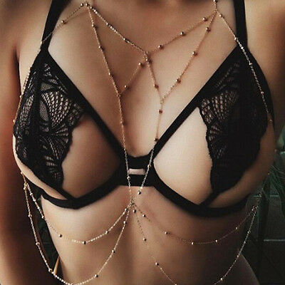 Women Body Chain Jewelry Bikini Waist Belly Beach Harness Rhinestone Necklace