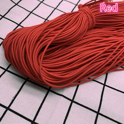 5yds 2/2.5mm High Elastic Round Elastic Band Rubber Band Elastic Cord Diy Sewing 5