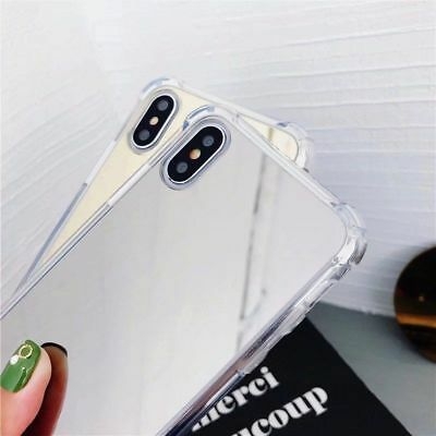 For iPhone 8 X 7 6S Plus XS Shockproof Armor Luxury Mirror Hard Back Case Cover 11