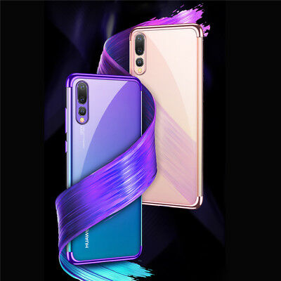 For Huawei P Smart 2019/ P30 P20 Lite Pro Plating Silicone Hybrid Case Cover 11