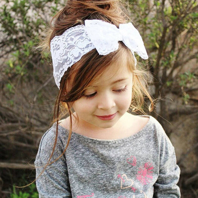 Baby Girls Bunny Cute Kids Ribbon Knot Rabbit Headband Bow Hair Bands Head Bow 5