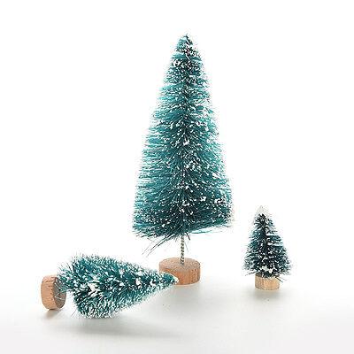 5 x Silver Christmas Tree Mini Cedar Ornaments Party Dolls House  Miniature Dec